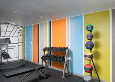 Fitness room at Corona Pointe Resort