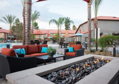 Outdoor Fire Pit and Comfortable Seating