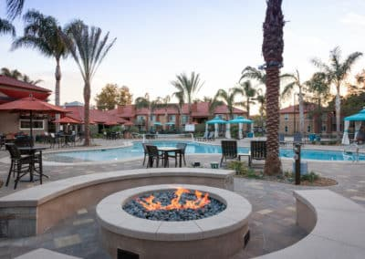 Fire pit at Corona Pointe Resort