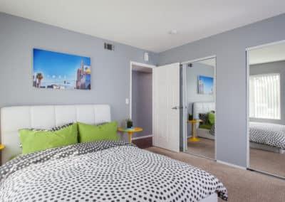 Modern bedroom at Corona Pointe Resort