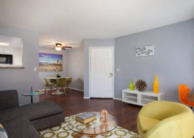 Modern living room at Corona Pointe Resort