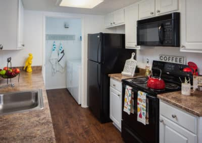 Kitchen Room with stainless steel appliances