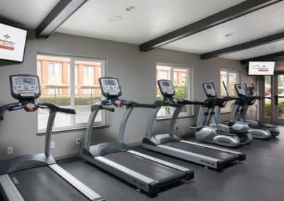 Fitness Studio with treadmill machines at Corona Pointe Resort