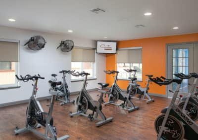 Fitness Studio with cycle machines at Corona Pointe Resort