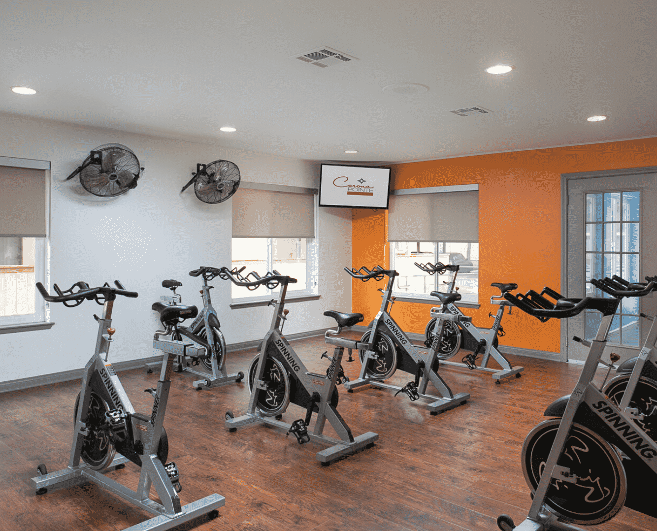 gym with many cycle machines